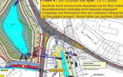 Verkehr auf der Nordhofe und auf dem Westring ab 28.09.2020 phasenweise massiv beeinträchtigt